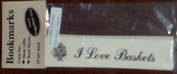 picture of I Love Baskets Bookmarks