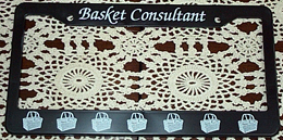 picture of Basket Consultant License Plate Holder