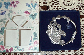 picture of Pewter & Crystal Suncatcher
